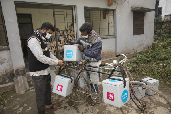 Vaccine by bicycle