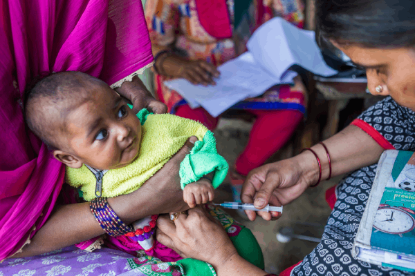 Vaccination of pregnant women and children